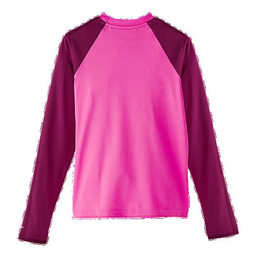 c64b6f1b771 Nike Girls' Flash Colour Block Long Sleeve Hydroguard | Sport Chek