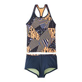 bd693a03a680e Nike Girls' Racerback Mash Up AOP Tankini