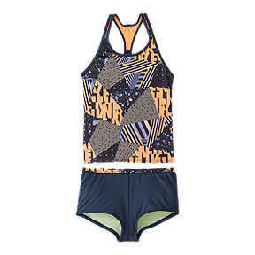 Nike Girls' Racerback Mash Up AOP Tankini