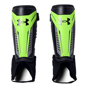 92355703a Under Armour Challenge Youth Soccer Shin Guard - Lime Light