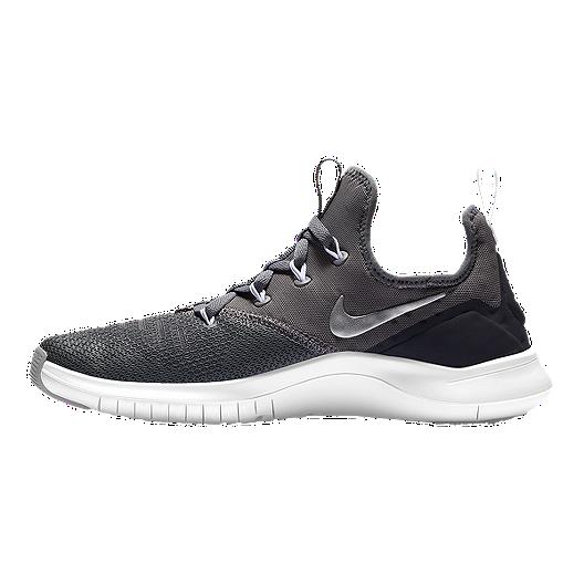 b5371aa655a89 Nike Women's Free TR 8 Training Shoes - Gunsmoke/Silver