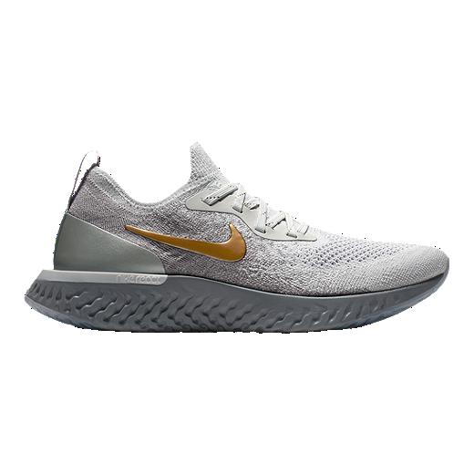 Nike Women's Epic React Flyknit Running Shoes GreyGold