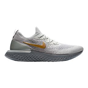 b5b4ba8868 Nike Women s Epic React Flyknit Running Shoes - Grey Gold