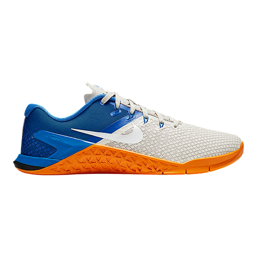 09bff36ae70f Nike Men s Metcon 4 XD Training Shoes - White Blue Orange