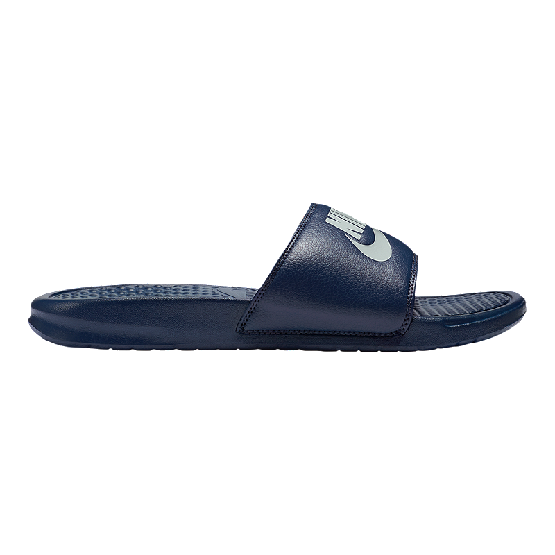 buy popular 70207 91f9b Nike Men s Benassi JDI Sandals - Navy Windchill   Sport Chek