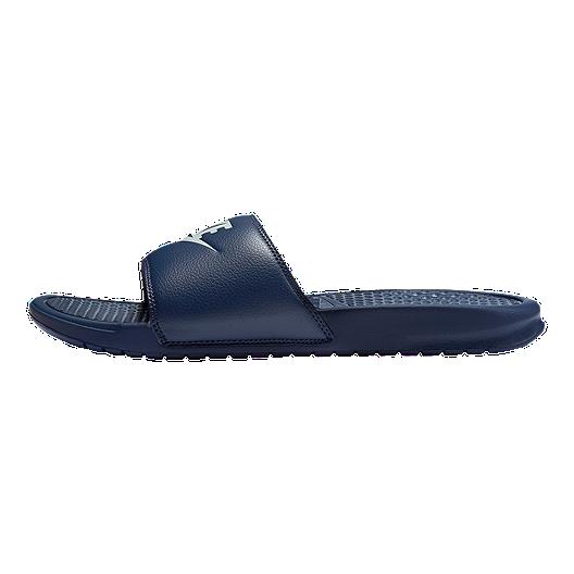 check out 3d6bc c1e6d Nike Men s Benassi JDI Sandals - Navy Windchill