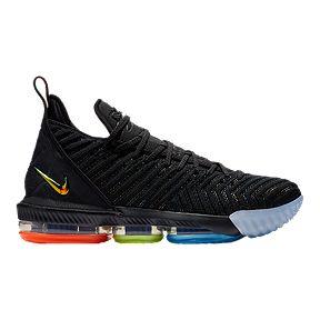 Nike Men s LeBron XVI Basketball Shoes - Black Silver 8c8b7a092