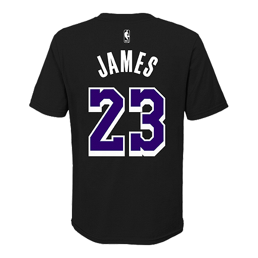 online retailer de3cd 19846 Youth LA Lakers LeBron James Dark Icon Player Tee