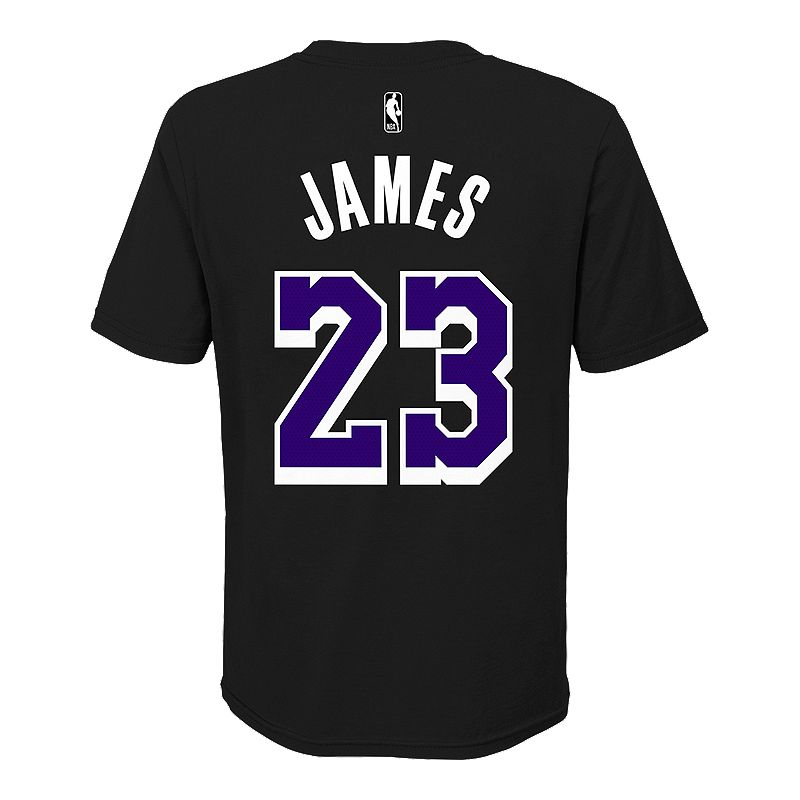 58a5c0d49a12 Youth LA Lakers LeBron James Dark Icon Player Tee (NIKE 193419519482) photo