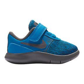 4597c98c0e3ea5 Nike Boy Toddler Flex Contact Shoes - Blue Gunsmoke Grey