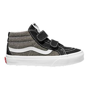 a852d53f3075 Vans Boys' SK8-Mid Reissue 2V Shoes - Coal Black/True White