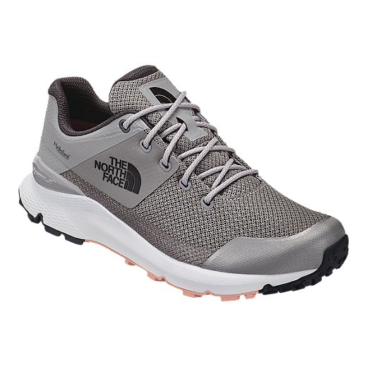 c5025899a91a0 The North Face Women s Vals Waterproof Hiking Shoes - Meld Grey Pink Salt -  GREY