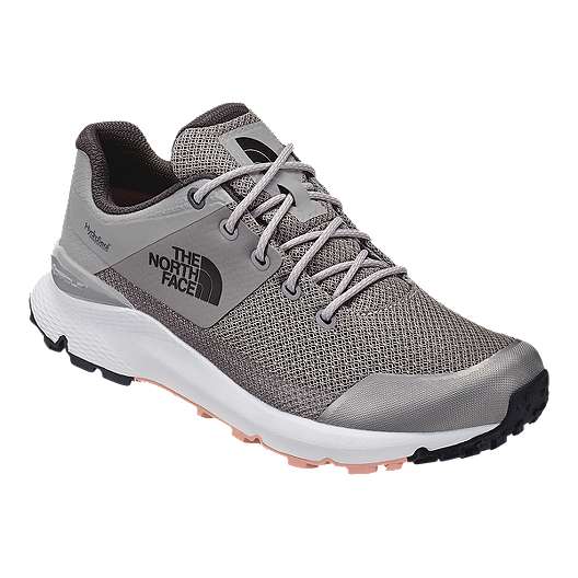 bf99a5201 The North Face Women's Vals Waterproof Hiking Shoes - Meld Grey/Pink Salt