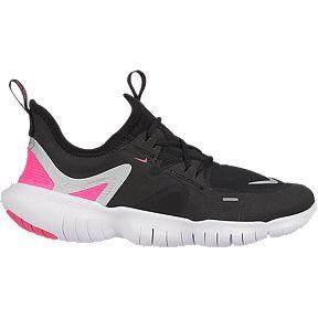 b530f16fd9 Nike Girls' Free Run 5.0 Grade School Running Shoes - Black/Silver/Pink