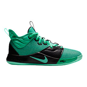 "Nike Boys' PG 3 ""Catch & Release"" Basketball Shoes - Black/Green"