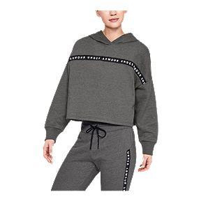 076b312ee1c2 Under Armour Women s Taped Fleece Hoodie - Black