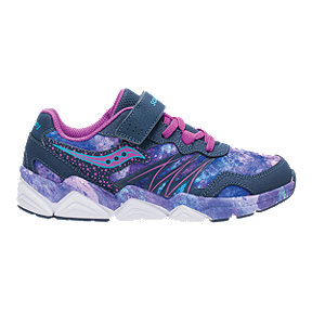 Saucony Girls' Flash AC Pre-School Shoes - Navy/Purple