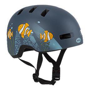 Bell Lil Ripper Kids  Bike Helmet 2019 - Clown Fish Matte Grey Blue 597345338