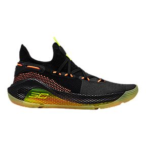 45f0a73caca Under Armour Boys  Curry 6 HOVR Grade School Basketball Shoes - Black High  Viz