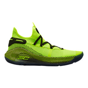 Under Armour Boys' Curry 6 Grade School Basketball Shoes - Hi Vis Yellow/Black