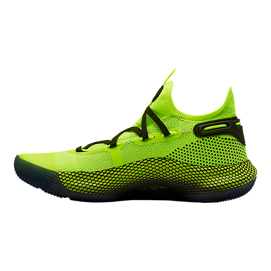 8458bd222376 Under Armour Boys  Curry 6 Grade School Basketball Shoes - Hi Vis Yellow  Black