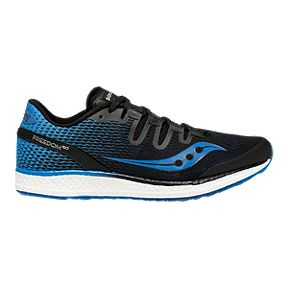 69656fd5f147 Saucony Men s Freedom ISO Running Shoes - Black Blue