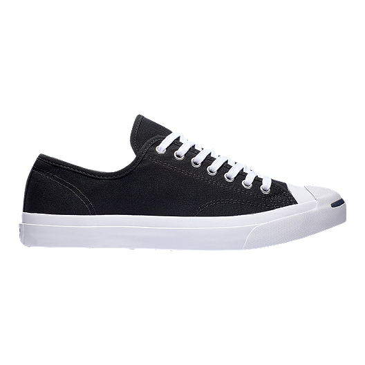 27ab2a184326 Converse Men s Jack Purcell Tumbled Leather Low Top Shoes - Ox Black White