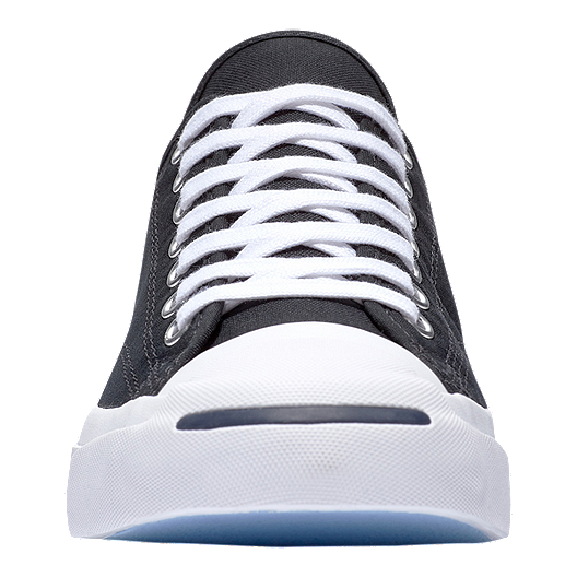 2b29a8e428ad Converse Men s Jack Purcell Tumbled Leather Low Top Shoes - Ox Black ...