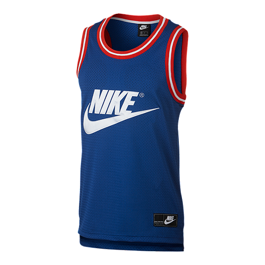 879d64ec Nike Sportswear Men's Statement Mesh Tank - INDIGO FORCE/WHITE
