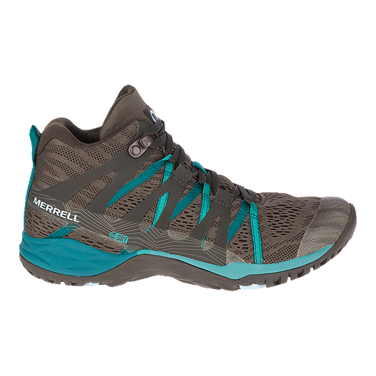 6ba7be0e Merrell Women's Siren Hex Q2 E-Mesh Waterproof Mid Hiking Shoes - Boulder