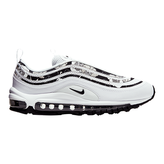 Nike Women's Air Max 97 SE Floral Shoes WhiteBlack Print