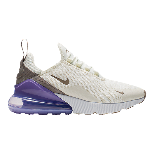 official photos f59ce e1c70 Nike Women s Air Max 270 Shoes - Sail Space Purple White   Sport Chek