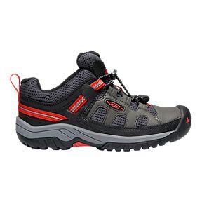 b1bedf5f69c2 Keen Boys  Targhee Low Cut Hiking Shoes - Magnet Fiery Red