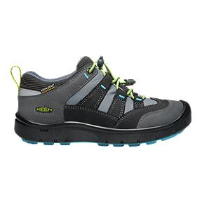 28cdd60131 Keen Boys' Hikeport Waterproof Hiking Shoes - Magnet/Greenery