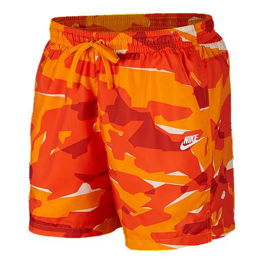eb4313d24a5b6e Nike Sportswear Men's Camo Woven Shorts - ORANGE PEEL