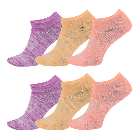 ac62d062fd120 New Balance Lifestyle Girls' No Show Sock - 6 Pack | Sport Chek