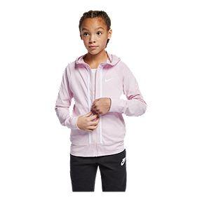 a9debdf1c7 Nike Sportswear Girls' Jersey Full-Zip Hoodie