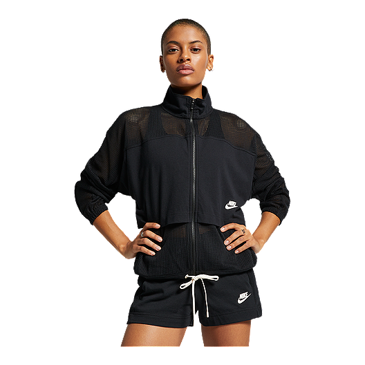 separation shoes 02682 fbc65 Nike Sportswear Women s Mesh Studio Jacket - Black   Sport Chek