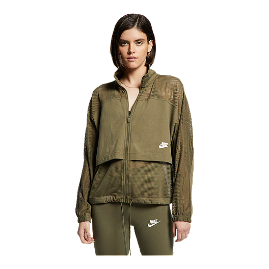c6c4e156 Nike Sportswear Women's Mesh Studio Jacket - Medium Olive