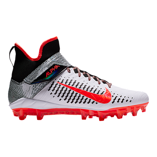 8ad37b3f2 Nike Men's Alpha Menace Pro 2 Mid Cut Football Cleats - White/Red/Black |  Sport Chek
