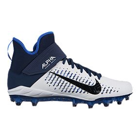 862263d957871 Nike Men s Alpha Menace Pro 2 Mid Cut Football Cleats - White Black
