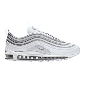 9219a780 Nike Men's Air Max 97 Shoes - White/Silver/Wolf Grey