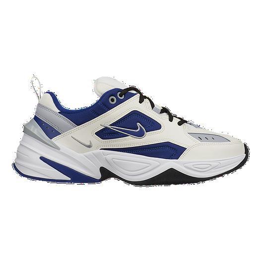 30c5252603987 Nike Men's M2K Tekno Shoes - Sail/Royal Blue/Grey