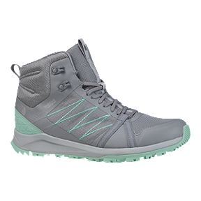 f2c87ea09fd The North Face Women s Litewave Fastpack II Mid Waterproof Hiking Boots -  Grey Lime Green