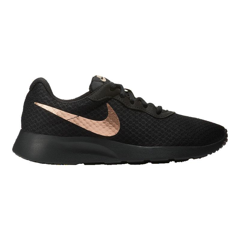 caef5063a Nike Women s Tanjun Shoes - Black Red Bronze