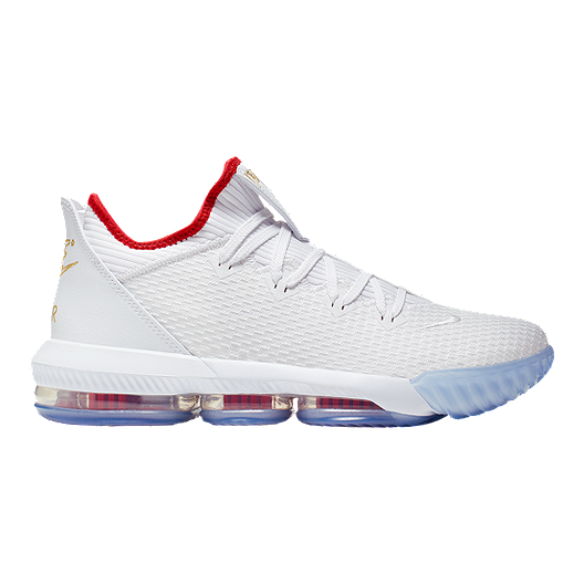 timeless design ded6b 6e81d Nike Men's Lebron XVI Low Cut Basketball Shoes - White/Red