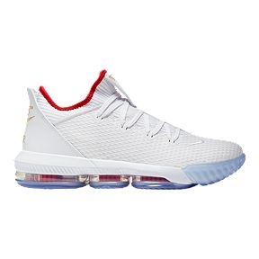 100% authentic 444e9 f57a4 Nike Men s Lebron XVI Low Cut Basketball Shoes - White Red