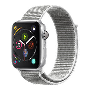 Apple Watch Series 4 GPS, 44mm Silver Aluminum Case with Seashell Sport Loop Band