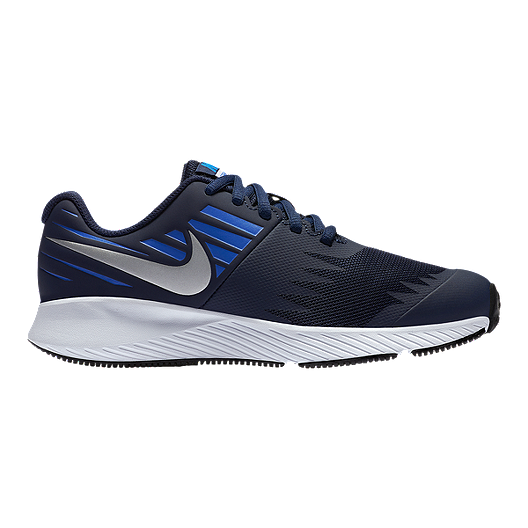 986119f114a Nike Boys  Star Runner Grade School Shoes - Obsidian Silver Signal Blue.  (0). View Description