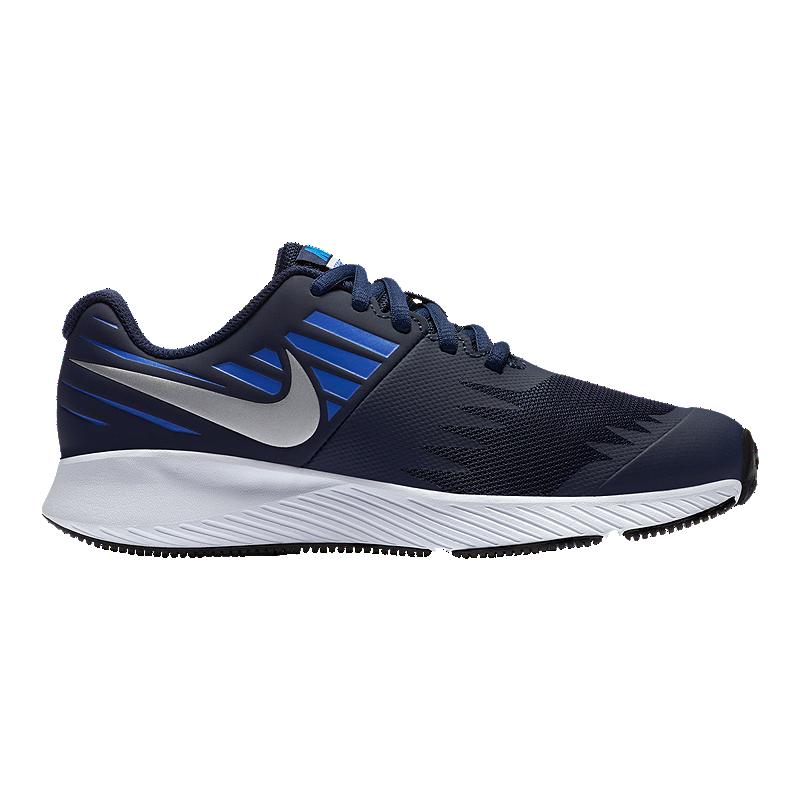 072ab7732e4 Nike Boys  Star Runner Grade School Shoes - Obsidian Silver Signal Blue